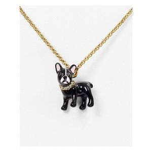 ♠️ Kate Spade Mini Bulldog Necklace NWT
